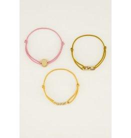 My Jewellery MJ046071200 Armbandset  goud spread the love in geel rose en goud