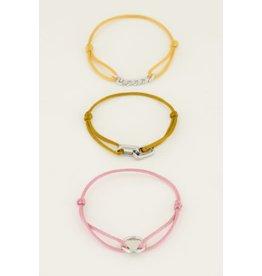 My Jewellery MJ046071500 Armband set staal spread the love in geel rose en goud