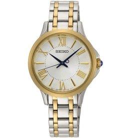 Seiko SRZ526P1 Seiko dames horloge bi color staal geelgoud