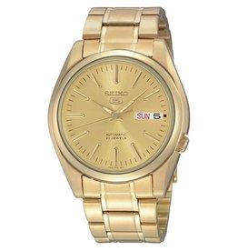 Seiko_Exclusive SNKL48K1 Seiko horloge automaat geel goud