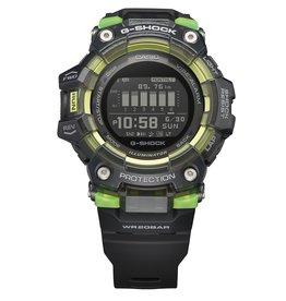 Casio GBD-100SM-4A1ER Digitaal sporthorloge zwart met zwarte band en groene accenten