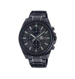 Edifice EFV-610D-1AVUEF heren horloge chronograaf staal zwart plated kast en band zwarte wijzerplaat