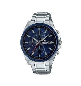 Edifice EFV-610DB-2AVUEF heren horloge staal chronograaf met blauwe wijzerplaat