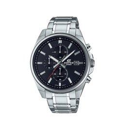 Edifice EFV-610DC-1AVUEF heren horloge chronograaf staal met stalen band en zwarte wijzerplaat