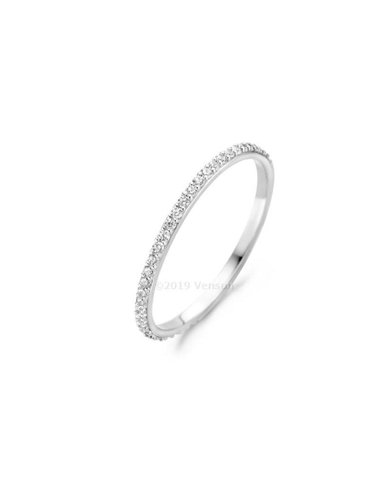 Blush 1201WZI/54 Blush 14 k witgouden ring met diamant gezette zirconia rij