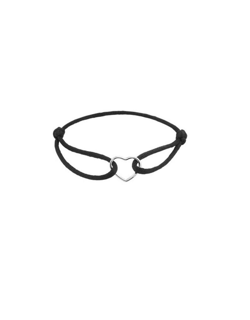 Blinckers Jewelry Huiscollectie 1800885 BJ Armband zijde/ zilver hart