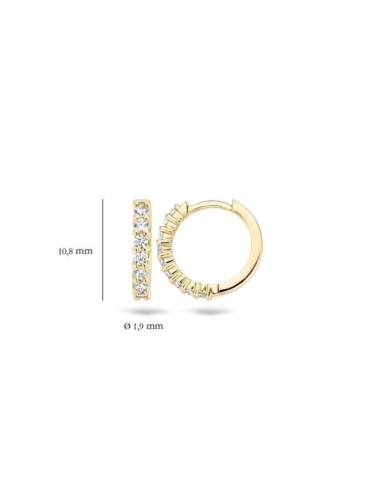 Blush 7134YZI Blush creool 14k goud met zirkonia