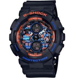 Casio GA-140CT-1AER  G-Shock Zwart met blauwe en oranje accenten