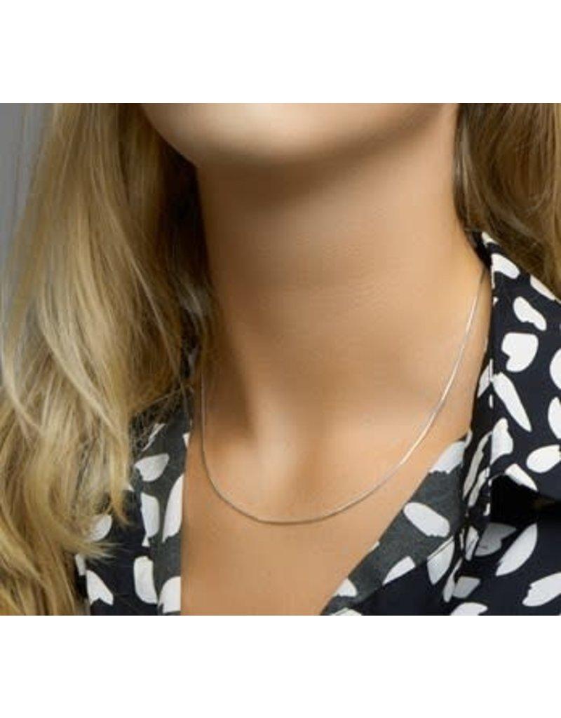 Blinckers Jewelry Huiscollectie 10.03903 Collier Slang Achtzijdig 1,0mm - 45cm