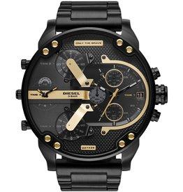 Diesel DZ7435 Mr Daddy 2.0  in zwart met gouden accenten