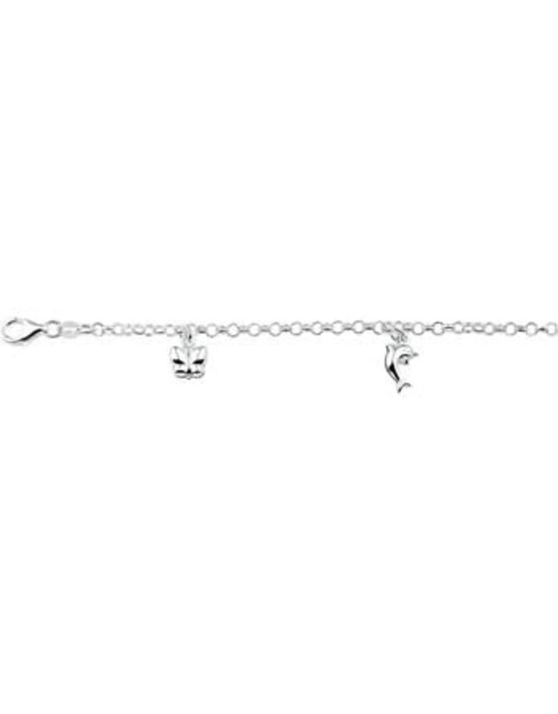 Blinckers Jewelry Huiscollectie 13.21792 Armband Diverse Bedels - 15cm