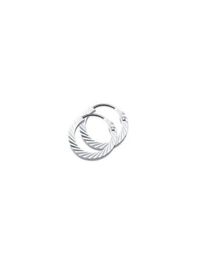 Blinckers Jewelry Huiscollectie 13.21910 Klapoorringen Vierkante Buis Gediamanteerd