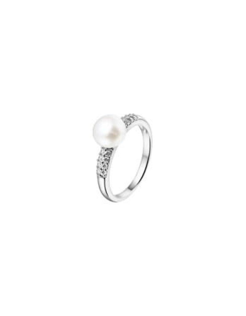 Blinckers Jewelry Huiscollectie 13.22306 Ring Parel en Zirkonia - Maat 17,75
