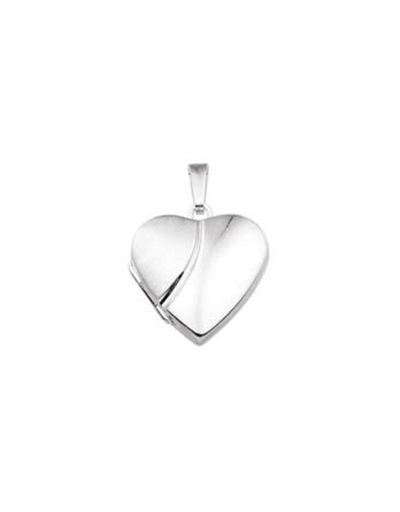 Blinckers Jewelry Huiscollectie 13.23368 Medaillon Hart Poli/Mat