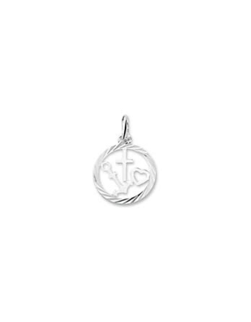 Blinckers Jewelry Huiscollectie 13.23415 Hanger Geloof, Hoop en Liefde Gediamanteerd