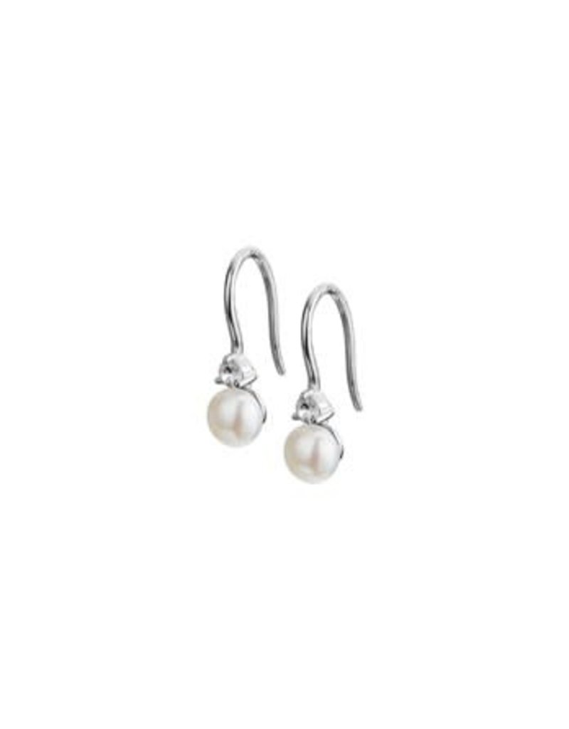 Blinckers Jewelry Huiscollectie 13.24583 Oorhanger Franse Haak Parel en Zirkonia