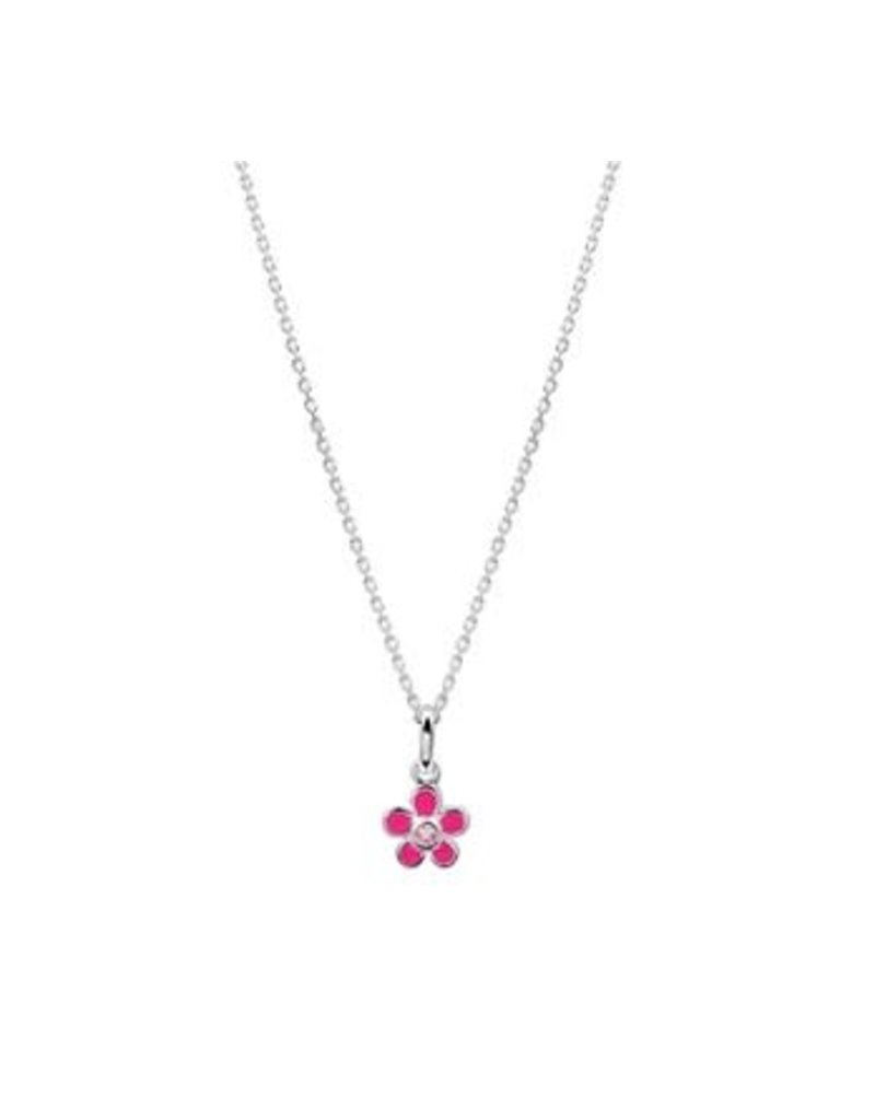 Blinckers Jewelry Huiscollectie  13.24630 Collier Bloem en Zirkonia - 36+4cm