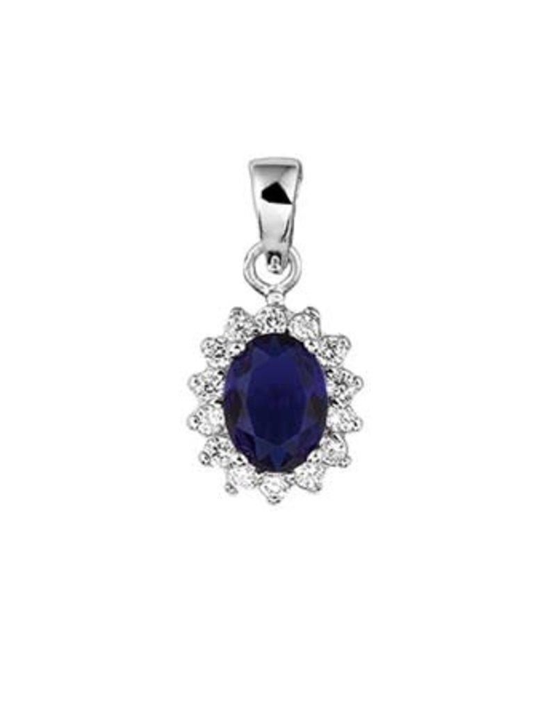 Blinckers Jewelry Huiscollectie  13.26154 Hanger Zirkonia en Synthetische Saffier