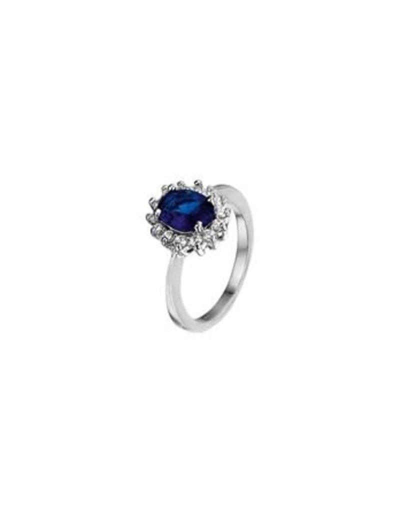 Blinckers Jewelry Huiscollectie 13.26194 Ring Zirkonia en Synthetische Saffier - Maat 17,75