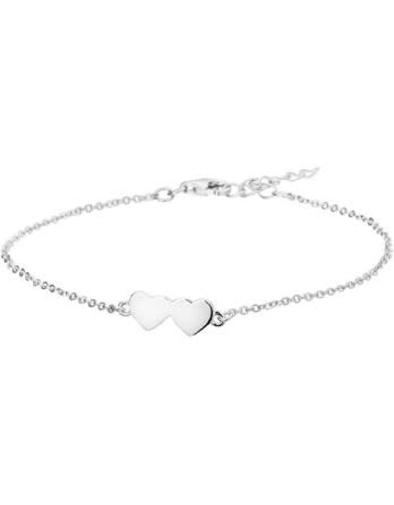 Blinckers Jewelry Huiscollectie 13.27138 Armband harten 1,3mm - 16+3cm