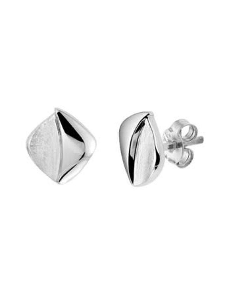 Blinckers Jewelry Huiscollectie 13.27270 Oorknoppen Gescratcht Poli/Mat