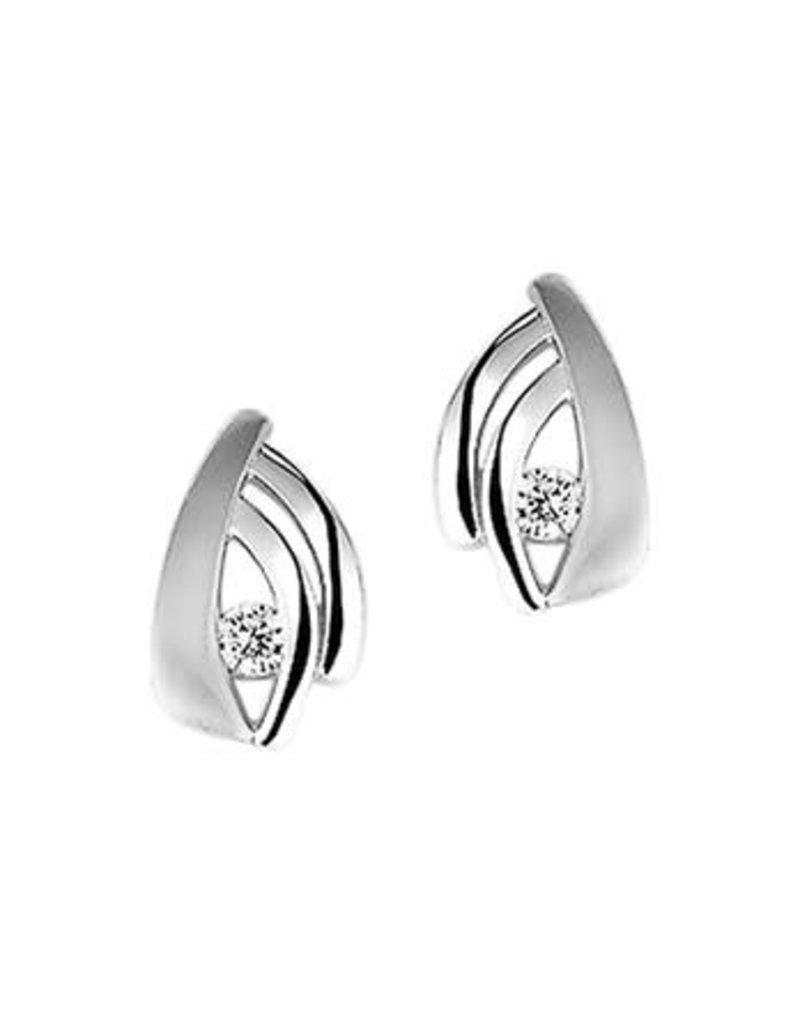 Blinckers Jewelry Huiscollectie 13.27286 Oorknoppen Zirkonia Poli/Mat