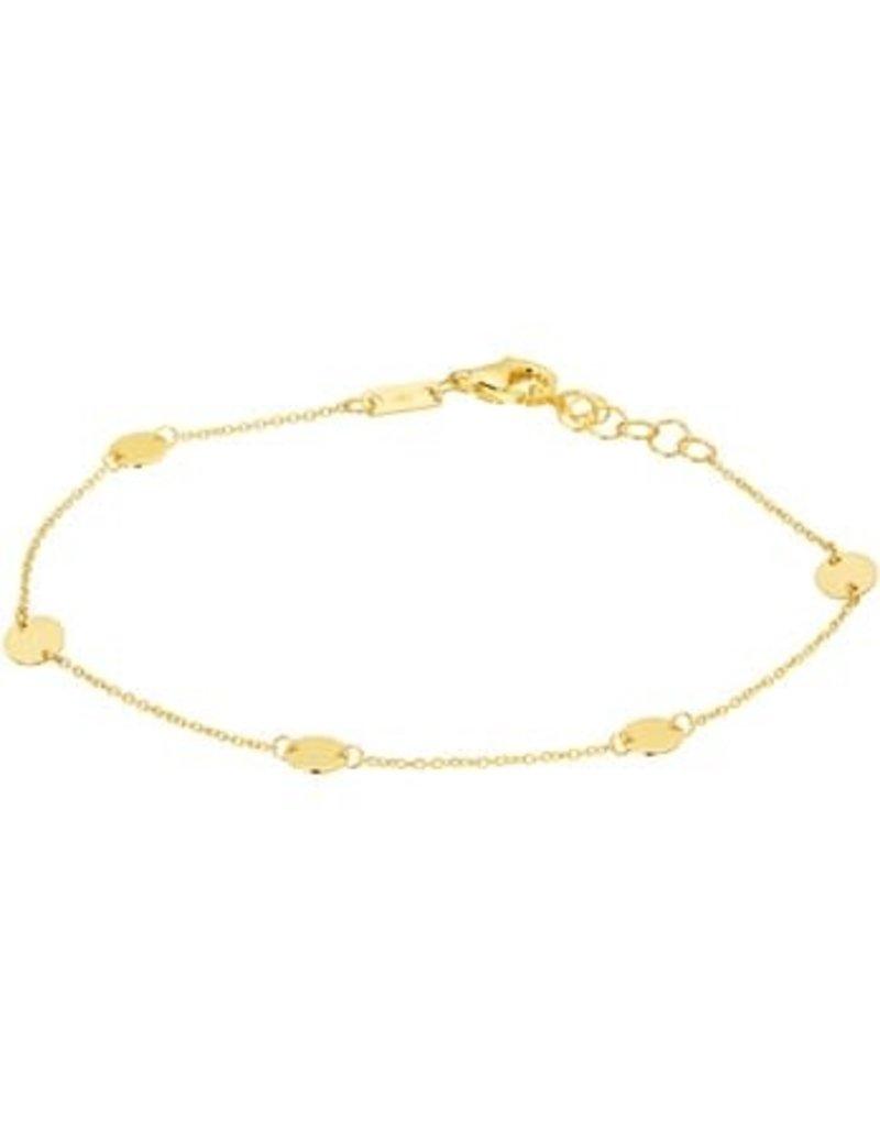 Blinckers Jewelry Huiscollectie 4019493  Armband cirkels14Krt goud