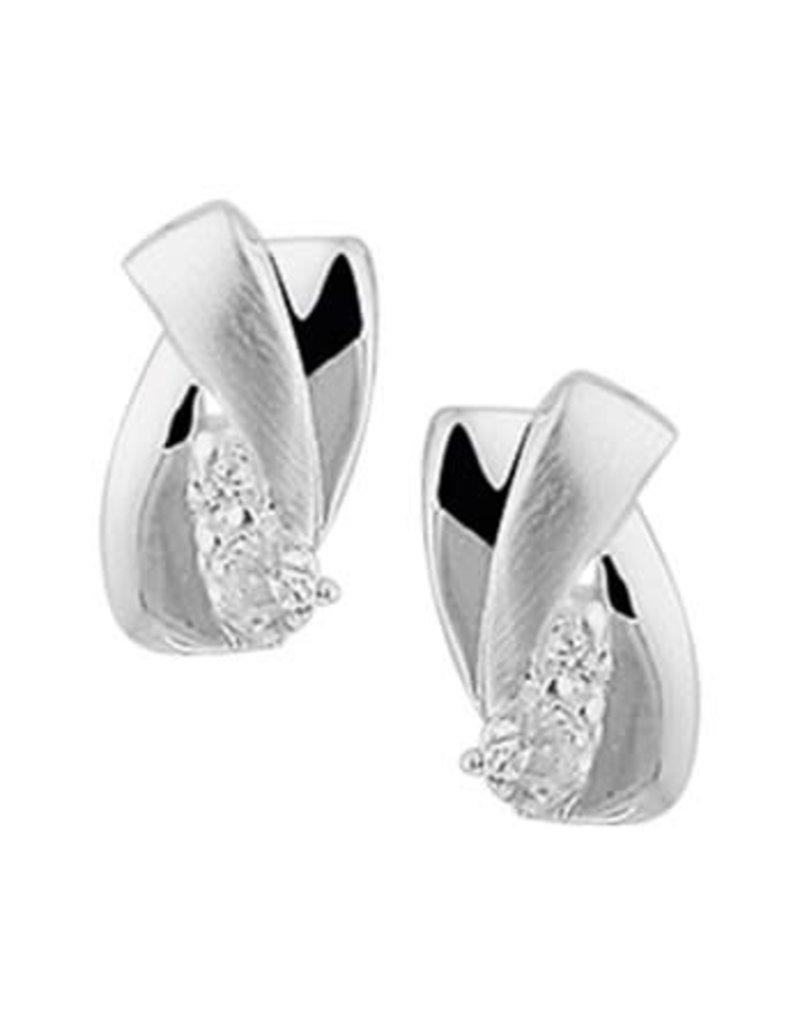 Blinckers Jewelry Huiscollectie  13.27297 Oorknoppen Zirkonia Poli/Mat
