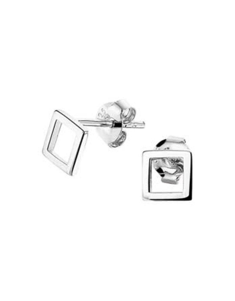 Blinckers Jewelry Huiscollectie  13.27342 Oorknoppen Vierkant