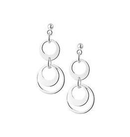 Blinckers Jewelry Huiscollectie 13.22209 Oorbellen Zilver Cirkels