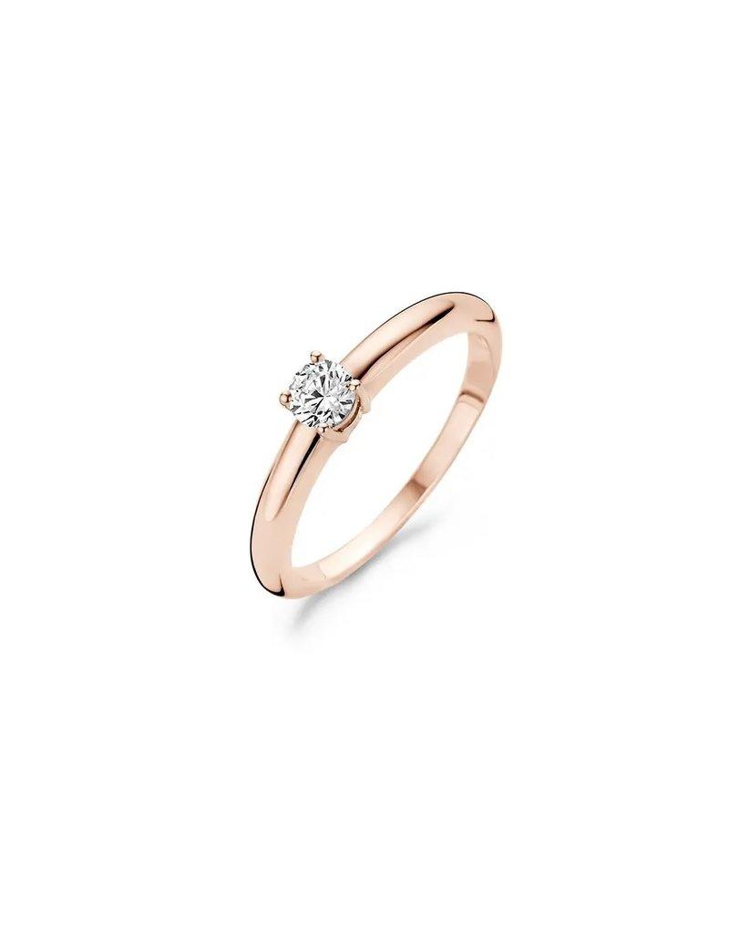 Blush Blush 1067RZI/56  Ring 14k rose met gezette zirconia