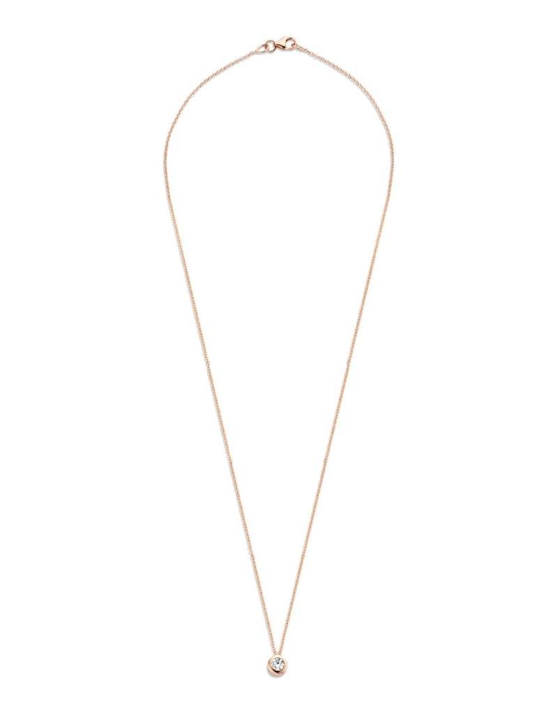 Blush Blush 3067RZI Collier 14k roségoud met roségouoden hanger met zirconia