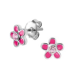 Blinckers Jewelry Huiscollectie 13.24614 Oorbellen bloem met zirkonia