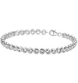 Blinckers Jewelry Huiscollectie 13.22365 Tennis Armbandje Zilver met Zirkonia 18CM