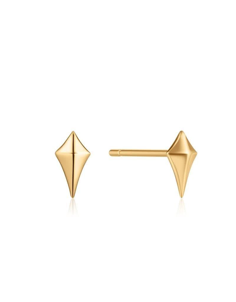 ANIA HAIE JEWELRY AH E023-23G Oorbellen Diamnond shape stud gold