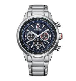 Citizen CA4471-80L Stalen  heren horloge chronograaf  met stalen band