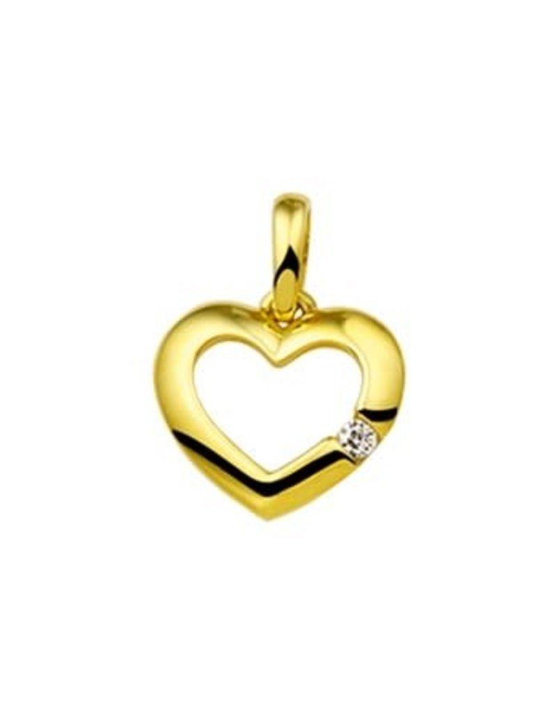 Blinckers Jewelry Huiscollectie 40.18470 Hanger Hart Zirkonia