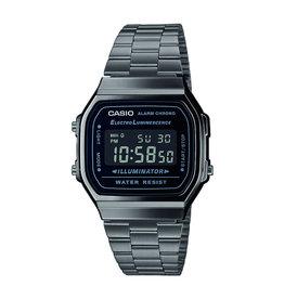 Casio A168WEGG-1BEF Digitaal horloge staal in gun metal
