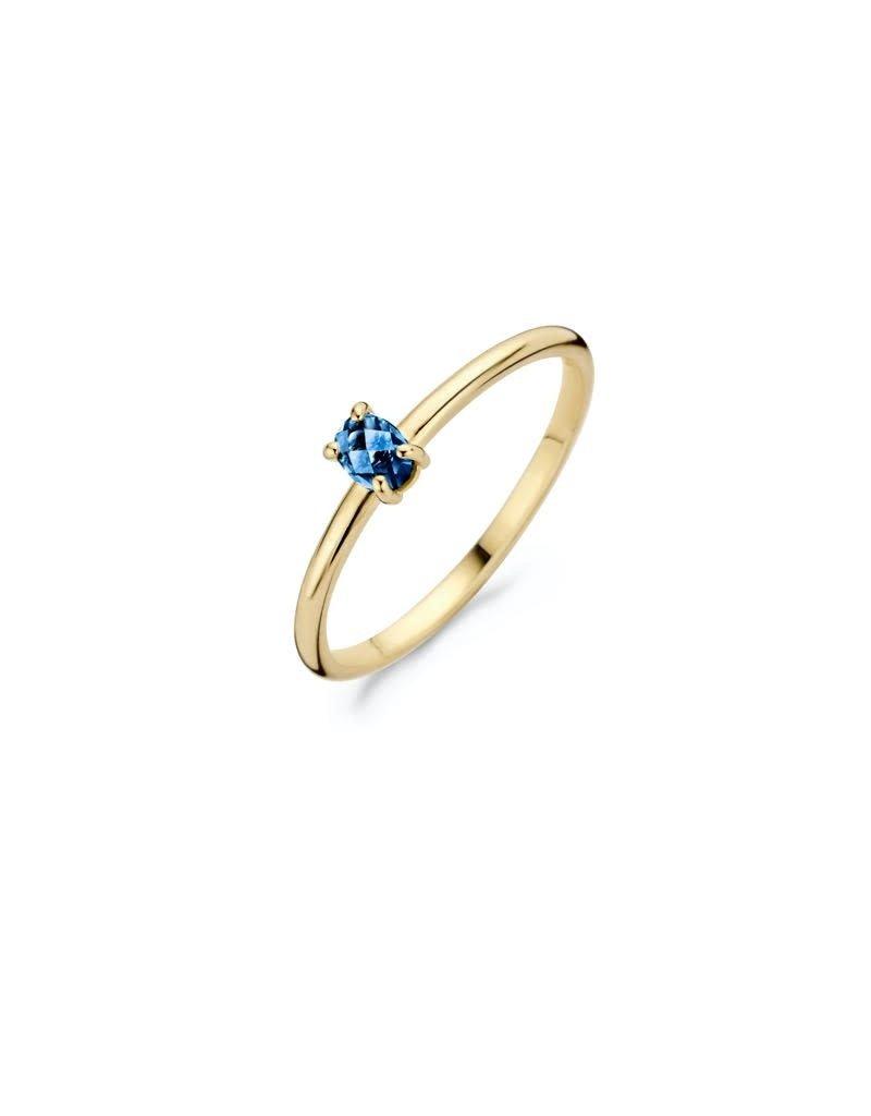 Blush Blush 1204YLB/52 Ring 14 k goud met geslepen blauwe topaz steen