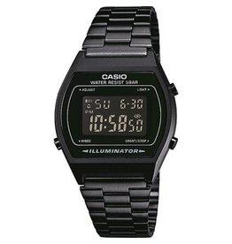 Casio B640WB-1BEF Digitaal horloge in staal met zwart pvd plating