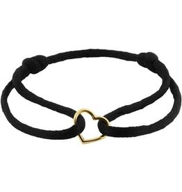 Blinckers Jewelry Huiscollectie 47004700202 Armband met 14k gouden hartje verstelbaar van maat 11 t/m 192
