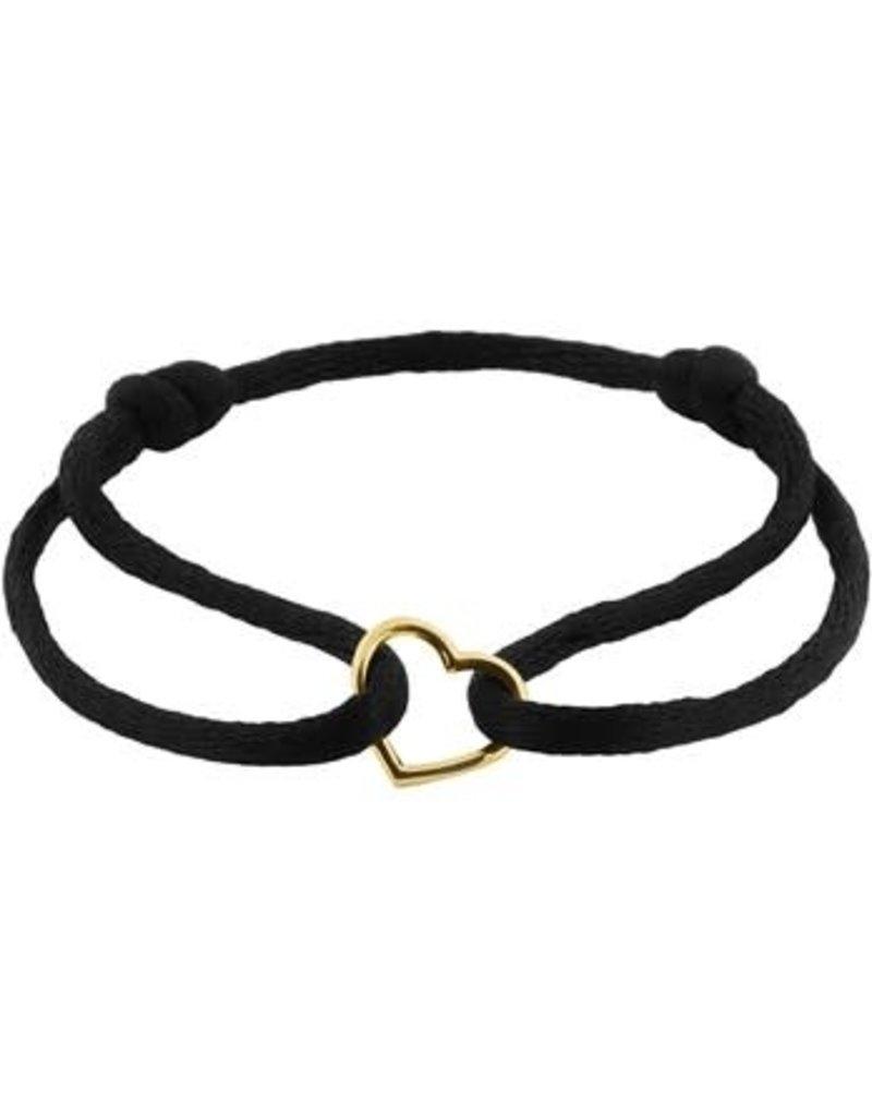 Blinckers Jewelry Huiscollectie 47004700202 Armband met 14k gouden hartje verstelbaar van maat 11 t/m 19202 Armband met 14k gouden hartje verstelbaar van maat 11 t/m 19