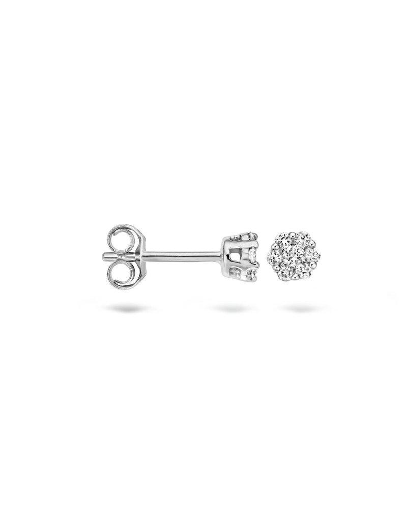 Blush Blush 7605WDI Oorstekers 14 Krt witgoud met diamant 0.11