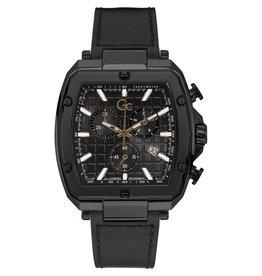 GC GC Y83003G2MF horloge heren Tonneau chrono black leather