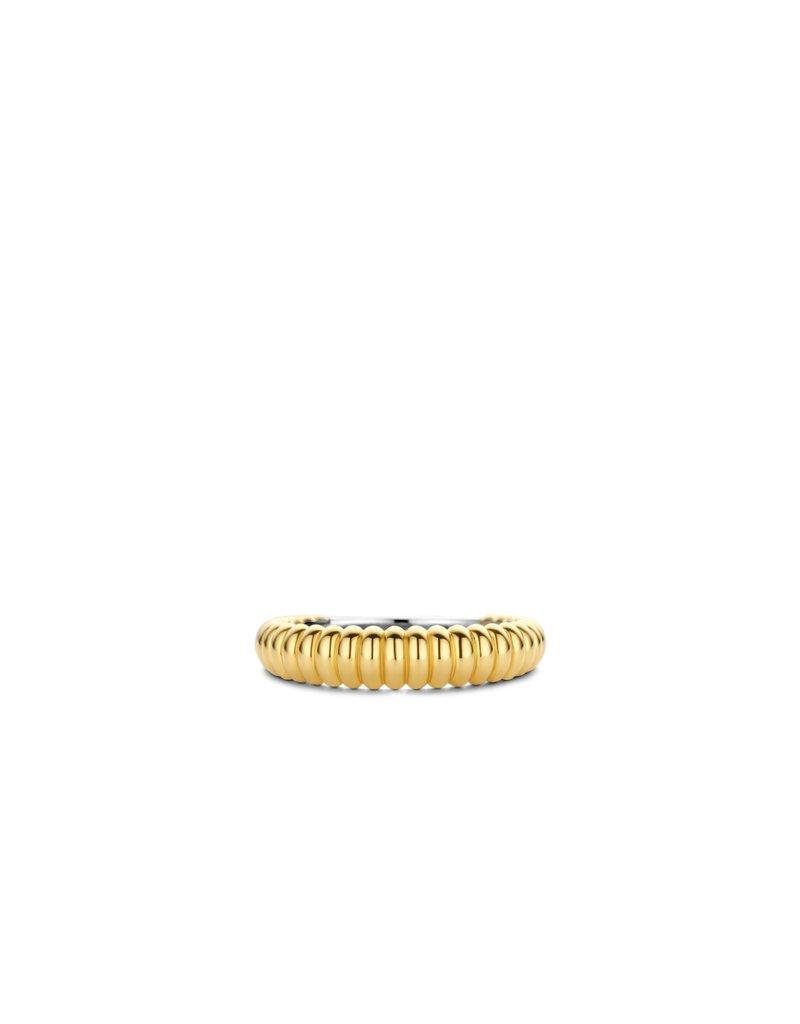 Ti Sento Milano 12218SY/56 Ring zilver goldplated ribbel