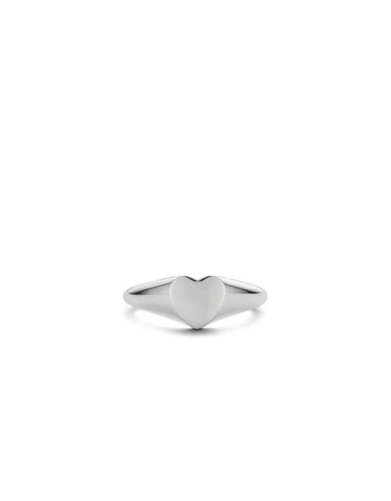 Ti Sento Milano 12221SI/50 Ring zilver met hartje met mogelijkheid voor gravure