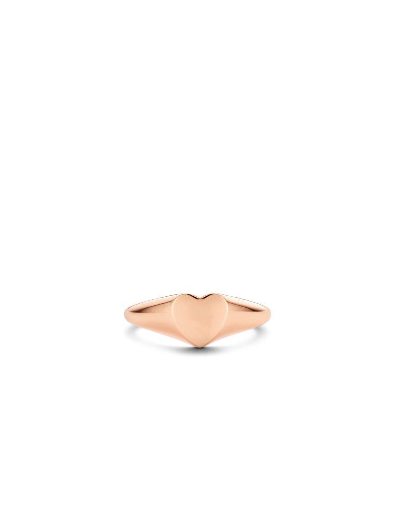 Ti Sento Milano 12221SR/54 Ring rosé plated vlak hart met ruimte voor gravure