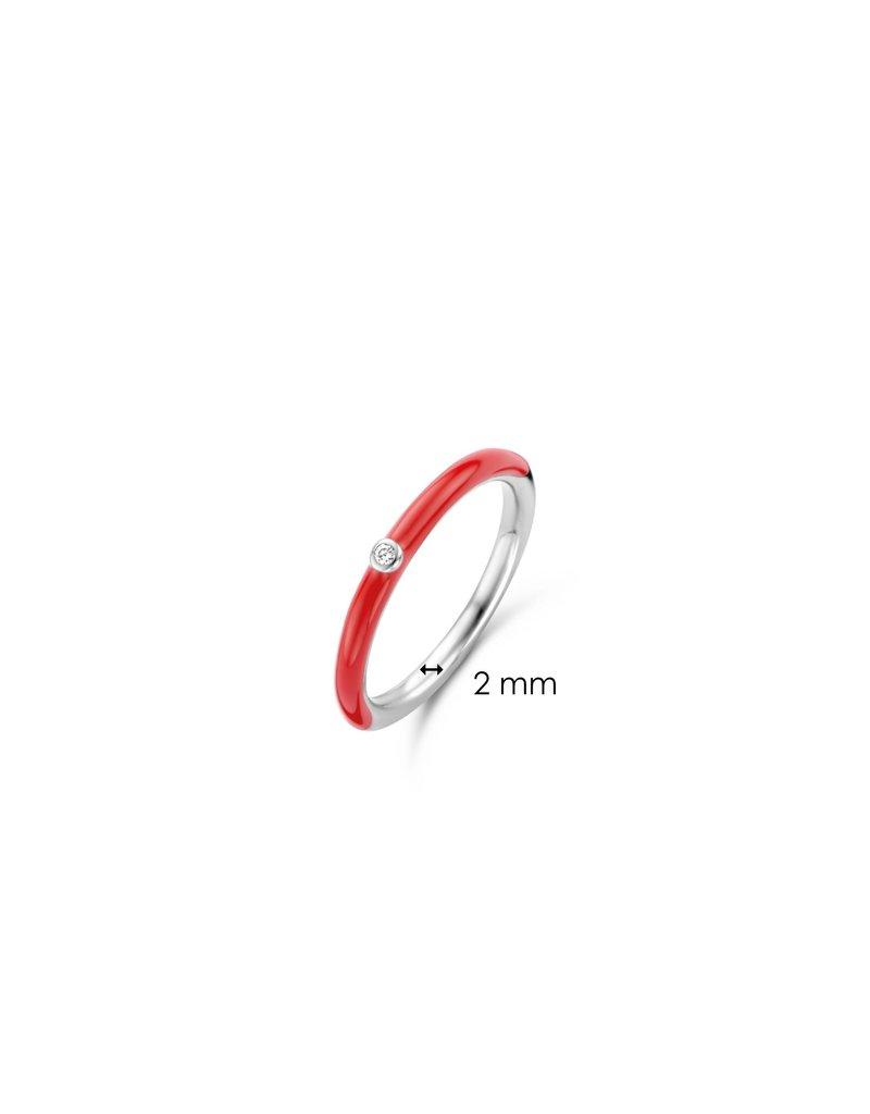 Ti Sento Milano 12225CR/54 Ring zilver met rode koraal