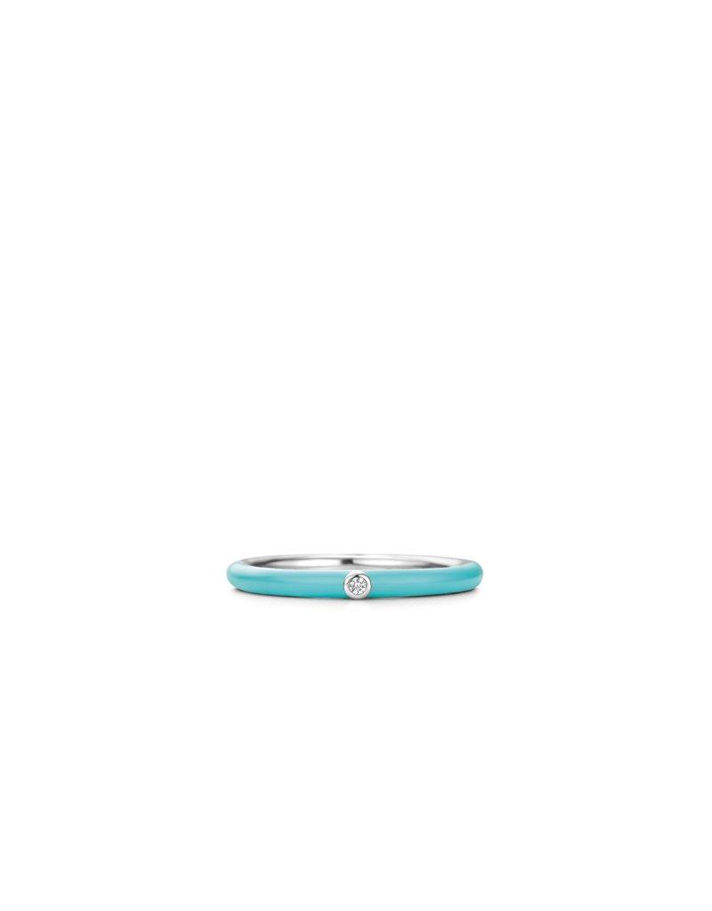 Ti Sento Milano 12225TQ/52 Ring zilveri.c.m turquoise en zirconia