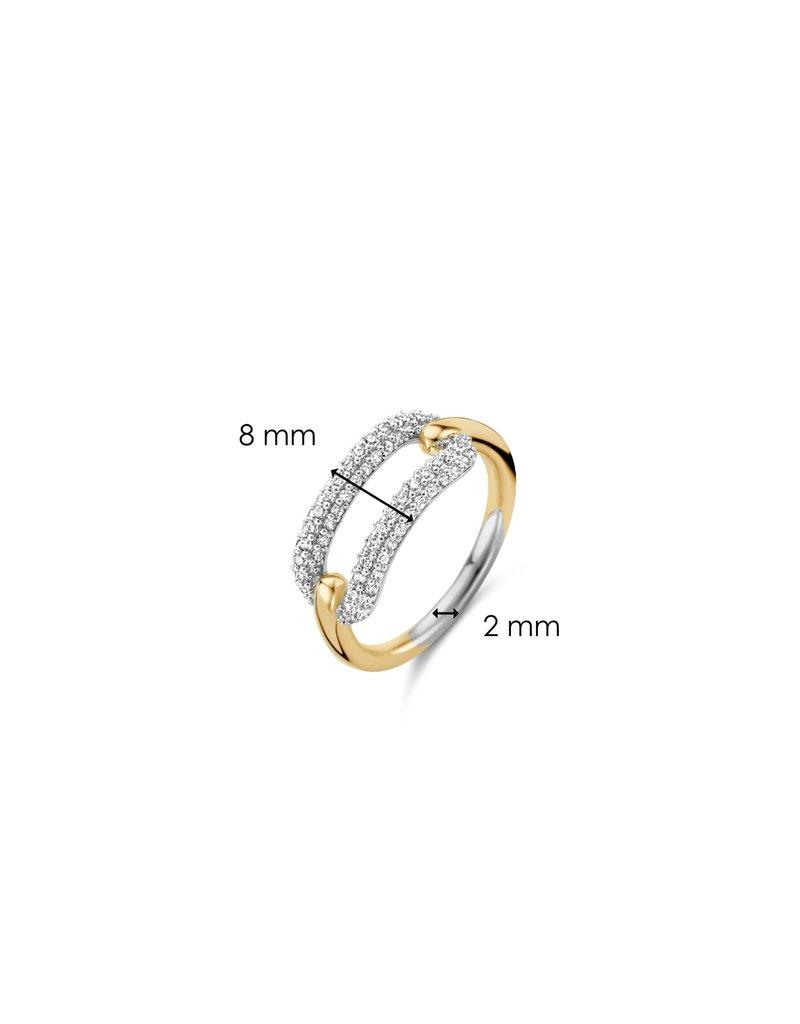 Ti Sento Milano 12228ZY/54 Ring zilver geelgoud plated met zirconia
